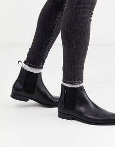 Черные кожаные ботинки PS Paul Smith-Черный