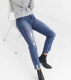 Рваные эластичные джинсы в винтажном стиле Stradivarius-Синий