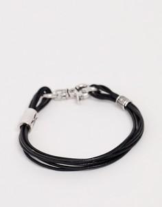 Черный браслет из искусственной кожи Classics 77