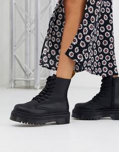 Черные ботинки из искусственной кожи на массивной подошве Dr Martens-Черный