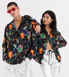 Рубашка с принтом манга COLLUSION Unisex-Мульти