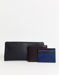 Подарочный набор с бумажником и визитницей Ted Baker Skates-Коричневый