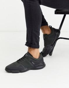 Черные кроссовки на массивной подошве BOSS Newlight-Черный