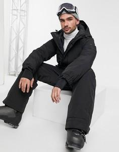 Лыжный комбинезон с капюшоном ASOS 4505-Черный