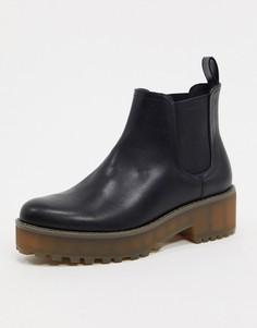 Ботинки челси на массивной подошве Monki-Черный