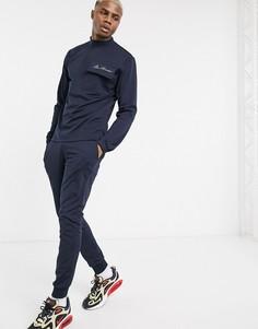 Спортивный костюм с карманом в стиле милитари ASOS DESIGN-Темно-синий