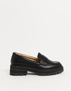 Черные туфли на массивной плоской подошве RAID Wide Fit-Черный