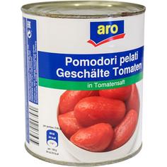 Томаты Aro очищенные целые в томатном соке 800 г