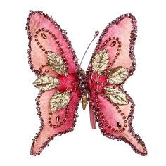 Katherine's Collection Елочное украшение Тропическая бабочка - Чертозия 18 см