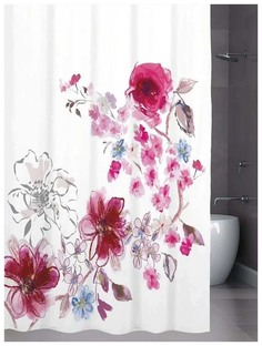 Штора для ванной Bath Plus In bloom 180x200 см Розовый