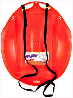 Санки-ледянки «Веселый паравозик» с ремнем Красный Цикл