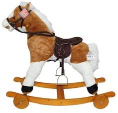 """Качалка-лошадка """"Pituso fandango"""", с колесами, светло-коричневый с белым"""