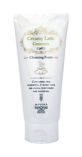 Пенка для умывания Missha Creamy Latte Cleansing Foam Green Tea 172 мл