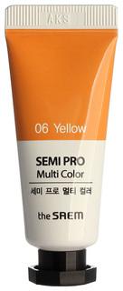 Тени для век The Saem Semi Pro Multi Color 06 Yellow 5 мл