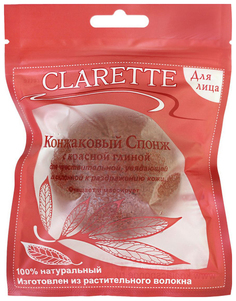 Спонж для умывания CLARETTE с красной глиной
