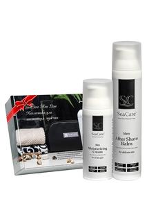 Подарочный мужской набор №2, Бальзам после бритья 100мл и Омолаживающий крем для лица 50мл, SeaCare SeaCare