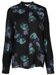 Vince floral long-sleeve blouse