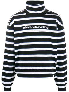 Alexander Wang толстовка в полоску с воротником-воронкой