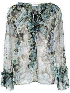 P.A.R.O.S.H. прозрачная блузка с цветочным принтом