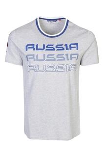 Серая футболка с принтами Bosco Fresh