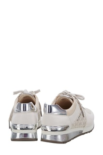 Комбинированные кроссовки с серебристой отделкой Michael Michael Kors