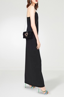 Черная бархатная сумка с цветными кристаллами Miu Miu