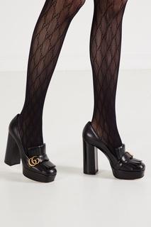 Черные туфли с бахромой и логотипом GG Gucci