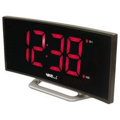 Часы настольные BVItech BV-412 серый/красный