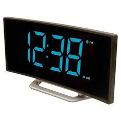 Часы настольные BVItech BV-412 серый/голубой