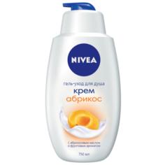 Крем-гель для душа Nivea Молоко и абрикос, 750 мл