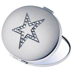 Зеркало косметическое карманное Scarlet Line 8295-YT17 серебристый