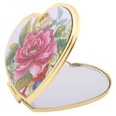 Зеркало косметическое карманное Scarlet Line A8240 золотистый/цветы