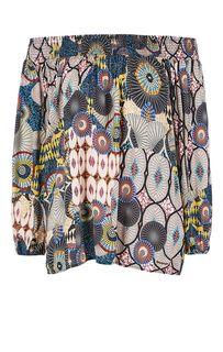 Разноцветная блуза с рукавами три четверти Desigual