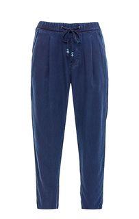 Зауженные синие брюки из денима Pepe Jeans