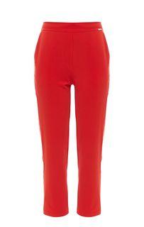Зауженные брюки красного цвета Guess
