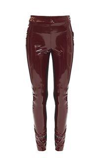 Зауженные брюки бордового цвета Karl Lagerfeld