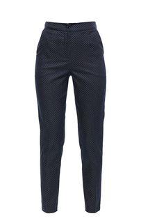 Хлопковые зауженные брюки в горошек D&M by 1001 Dress