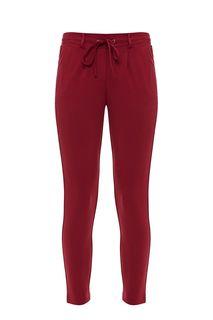 Бордовые зауженные брюки из вискозы Tom Tailor