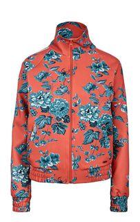 Легкая оранжевая куртка с цветочным принтом Pepe Jeans