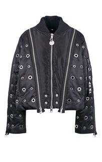 Куртка с перфорацией и молниями Diesel