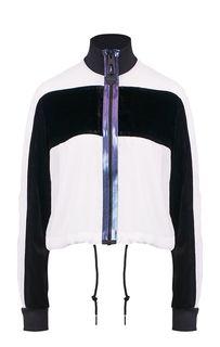Полупрозрачная куртка с бархатными вставками Diesel