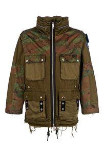 Куртка в стиле милитари со скрытым капюшоном Diesel