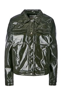 Черная куртка на кнопках с карманами Ichi