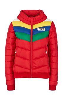 Красная куртка с контрастными вставками Pepe Jeans