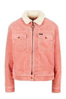 Вельветовая куртка розового цвета с застежкой на молнию и кнопку Wrangler