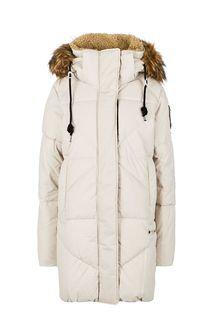 Длинная зимняя куртка с меховой отделкой Luhta