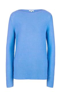 Хлопковый джемпер синего цвета Tom Tailor