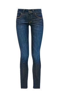 Синие джинсы с низкой посадкой Skara Slim Marc Opolo