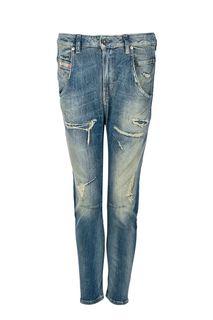 Зауженные джинсы с заплатами Fayza-T Diesel