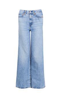 Синие джинсы с заломами Ribcage Wide Leg Levis®